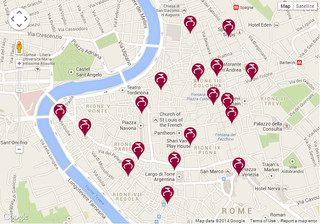 Map of Roma Bike Sharing Rome, bike stations, bike hire
