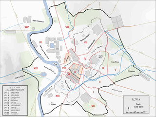 Map of ancient city of Rome
