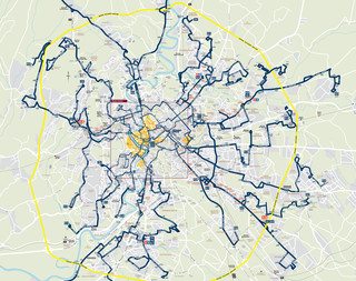 Map of Rome night bus network